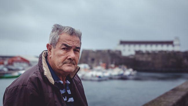 Porträt eines Fischers auf den Azoren in Ponta Delgada