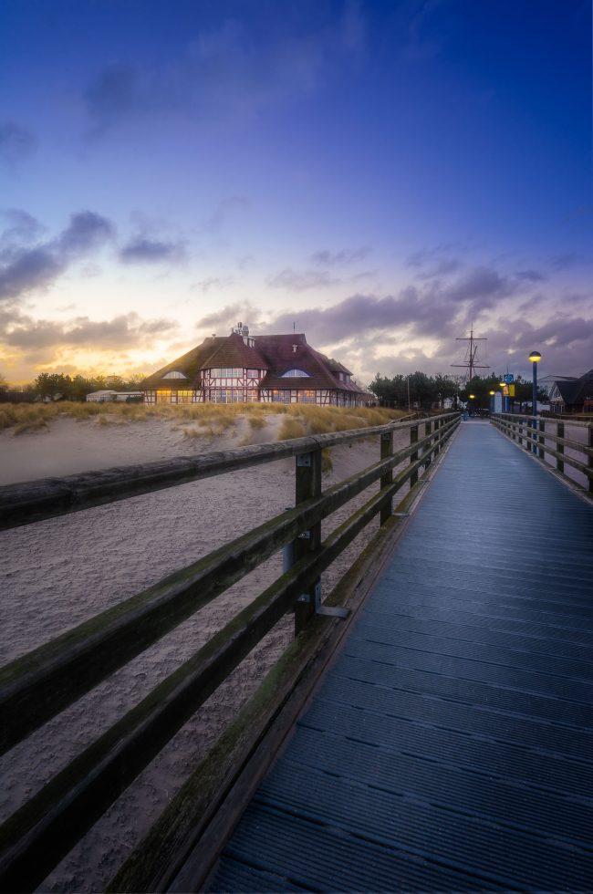 Kurhaus Zingst zum Sonnenaufgang