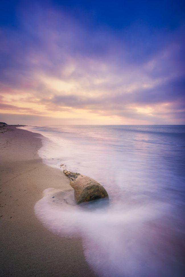 Strandgut am Weststrand zum Sonnenuntergang
