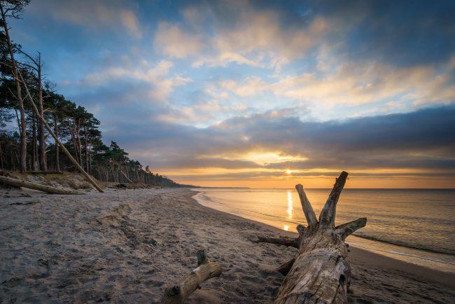 Sonnenuntergang am Weststrand Darß