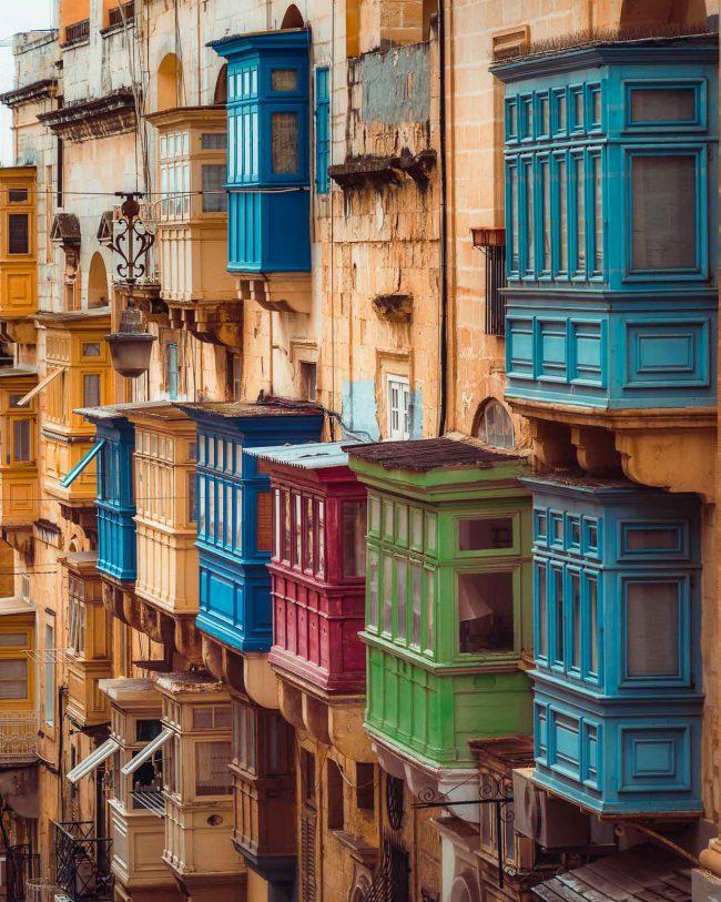 Balkone Malta Valletta